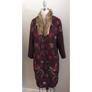 Anthropologie Jackets & Coats - Anthropologie AIZA EMBROIDERED COAT  new